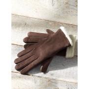 Walbusch Lammfell-Handschuhe Braun 6,5