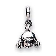 Jo For Girls Silver Little Girl Head Drop Bead