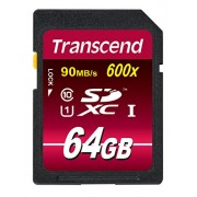 Transcend 64 GB SDXC Class 10 UHS-I 600x (Ultimate) Memory Card