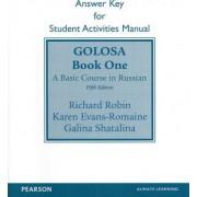 SAM Answer Key for Golosa by Richard M. Robin
