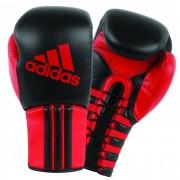 Adidas Safety Sparring Bokshandschoenen Veter Zwart-Rood - 16 oz