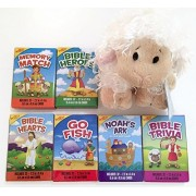 Bible Theme Classic Childrens Card Game Bundle Includes 6 Games Plus Lamb Webkinz