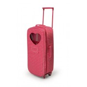 Badger Basket Trolley Doll Travel Case with Rocking Bed and Bedding - Star Pattern (fits American Gi