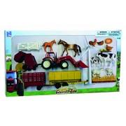 NEWRAY 05915 - Farm Playset, Farm Tractor e Barn
