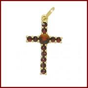 Stříbrný křížek český granát (Originál Granát Turnov)