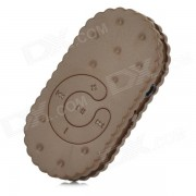 S-que galleta formo 3.5mm reproductor de mp3 w / TF - marron