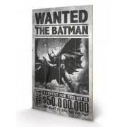 Tablou pe lemn Batman Origins Wanted