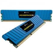 Memorie Corsair Vengeance Low Profile Blue 8GB (2x4GB) DDR3 PC3-12800 CL9 1600MHz 1.5V XMP Dual Channel Kit, CML4GX3M2A1600C9B