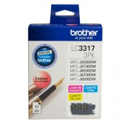 Brother LC-3317 Cyan, Magenta, Yellow Colour Ink Pack