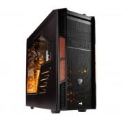 Boîtier PC XPredator X3 Evil Black Edition noir / orange, kit de fentre, détail 3x 5,25 externe, 8x interne de 3,5 pouces, 1x 2,5 pouces remplaçables chaud ATX ATX 8