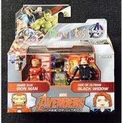 Marvel Avengers Age of Ultron Minimates Series 61 Iron Man & Black Widow Minifigure 2-Pack by Diamond Select