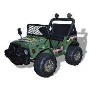 vidaXL Elektrisk bil till barn, två-sits, grön