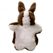 ELECTROPRIME Collectible Plush Bunny Design Hand Puppet for Preschool Learning Aid Coffee
