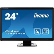 "Monitor TN LED iiyama 23.6"" T2452MTS-B4, Full HD (1920 x 1080), Touch, VGA, DVI, HDMI, 2 ms, Boxe (Negru)"