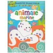 Uneste punctele si coloreaza Animale marine