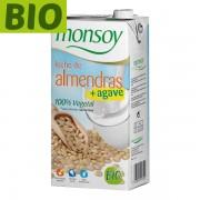 Lapte migdale cu sirop agave Monsoy (fara gluten) BIO - 1 litru