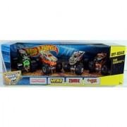 Hot Wheels Monster Jam Off-Road 4-Pack Tour Favorites 1 - Grave Digger Max-D Zombie & Captains Curse