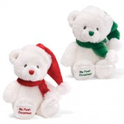 "Gund Christmas My First Christmas 10"" Plush Red/Green"