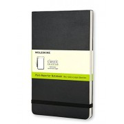Moleskine Bloc-notes blanc Grand format Couverture rigide noire 13 x 21 cm