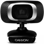 Уеб камера CANYON CNE-CWC3, 1080P Full HD, USB2.0, 360°, 2.0 Mega pixel, Черна, CNE-CWC3
