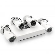 Systeme de surveillance Mini NVR 4 canaux - PoE / HDMI / 4 cameras IP 720p / Capteur CMOS 1/4 pouces