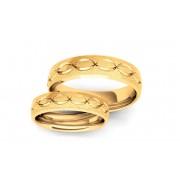 Snubní prsteny pískované šířka 5 mm STOB125
