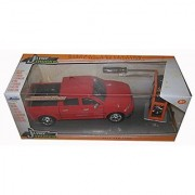 2014 Dodge Ram 1500 Pickup Truck Red Just Trucks with Extra Wheels 1/24 by Jada 97224