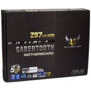 Asus 90MB0MH0-M0EAY0 Sabertooth Z97 Mark2/USB 3.1 Scheda Madre, Nero