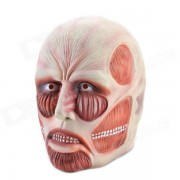 Well-muscled Natural Rubber Attack on Titan Mask - Nude + Red