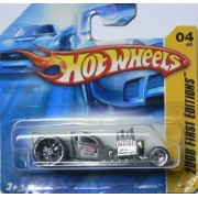 Hot Wheels Short Card Silver Ratbomb 2008 First Editions 4 of 40 by Mattel