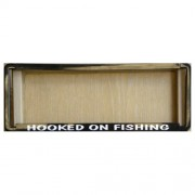"""""""Novelty Number Plate Frame - Hooked On Fishing"""""""