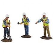 First Gear 1/50 scale Metal Construction Figures: Worker Digging with Shovel Worker Holding Sledge Hammer Site Supervisor Holding Clipboard (#90-0481)