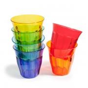 Maisons du monde 6 bicchieri multicolore in plastica COLORAMA