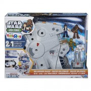Playskool Heroes Star Wars Jedi Force Millennium Falcon Playset with Han Solo Chewbacca C-3PO and R2-D2 Figures