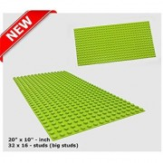 LEGO DUPLO (big dot) Compatible Mega Bloks Compatible Brick Building Base 20 x 10 Apple Green Baseplate - by Fun For Lif