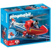 Playmobil 4824 Rescue Set Fire Fighting Helicopter