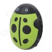 HYTJK007 Escarabajo Estilo recargable de 3?5 mm Jack MP3 Player w / TF / Mini USB - Verde + Negro