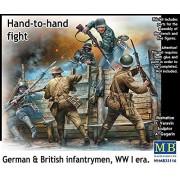 """Masterbox """"Hand to Hand Fight/German and British Infantrymen/WWI"""" Kit de construcción, lucha mano a mano, escala 1:35 (gris)"""