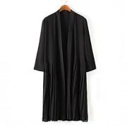 Mulheres Jaquetas de Couro Casual Moda de Rua Primavera,Sólido Preto Poliéster Gola Boba Manga Longa