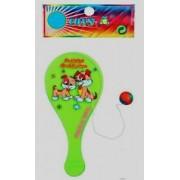 Mini Tap Ball Chien Vert Rose Jaune 18 X 9 Cm Raquette + Balle Neuf 60gr
