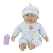 JC Toys 'Lots to Cuddle Babies' Asian 20-Inch Purple Soft Body Baby Doll and Accessories Designed by Berenguer by JC Toys Group, Inc.