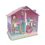 Cubic Fun P679H - 3D Puzzle La Casa delle Bambole la Casa di Carrie 4 Stanze