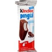Prajitura cu Umplutura Lapte si Glazura Ciocolata Kinder Pingui 30g