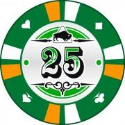 Kerámia póker zseton 25