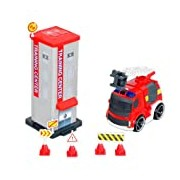 Silverlit 81137 fire station includes Fire Truck Ride-On Fun Sound with Infrared Remote Control