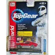 AUTO WORLD LICENSED PREMIUM BBC TOP GEAR Red 1:64 SCALE 1967 FORD MUSTANG GT DIE-CAST