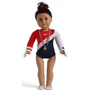 Doll Clothes for 18 inch American Doll.-Package: 1Gymnastics Sports Clothes+1gold Medal+1shoes+1gloves-We only sold Dol
