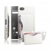 Sony Xperia Z5 Compact (4.6 inch) Funda Protector Rᄄᆰgida con Soporte Ranura (White)