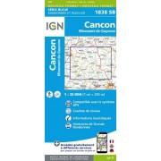 Wandelkaart - Topografische kaart 1838SB Cancon, Miramont-de-Guyenne | IGN