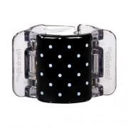 Linziclip Midi Hair Clip Haargummis für Frauen Haarklammer Farbton - Black With White Polka Dots